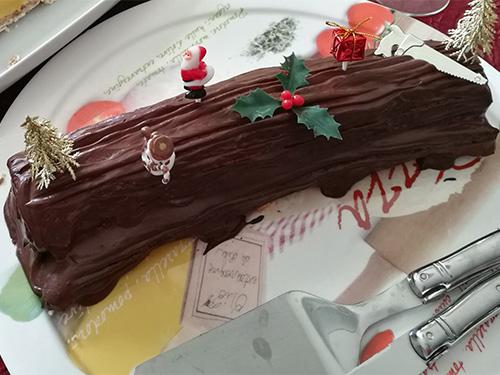 Bûche de Noël au chocolat notrebonnefranquette