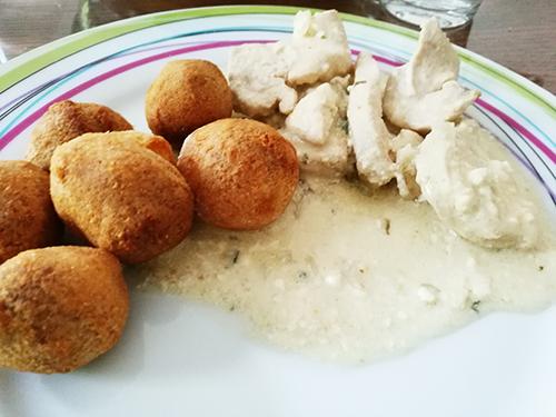 Blancs de poulets à la sauce moutarde et à l'estragon notrebonnefranquette