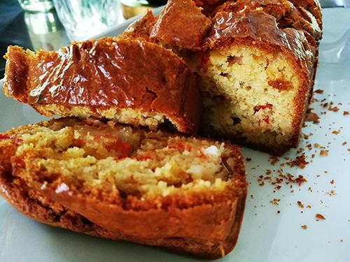Cake aux crevettes et poivron notrebonnefranquette