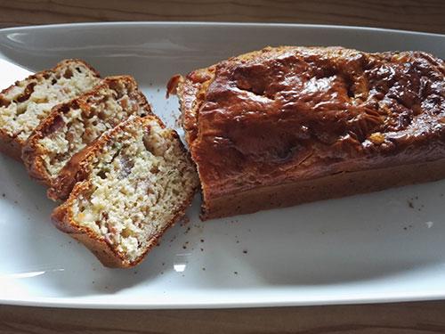 Cake vert au jambon et au parmesan notrebonnefranquette
