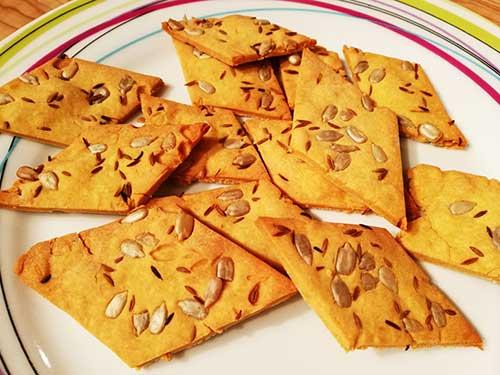 Crackers aux graines à la farine de pois chiches notrebonnefranquette