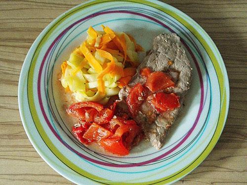 Médaillons de veau et tagliatelles de légumes notrebonnefranquette