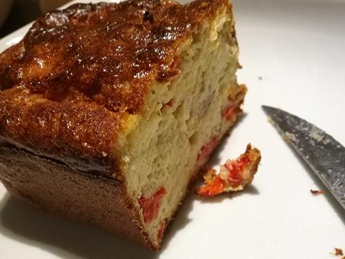 Cake au thon, poivron et olives