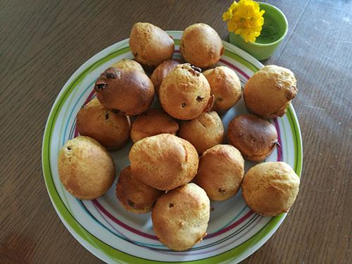 Muffins au miel et aux raisins secs