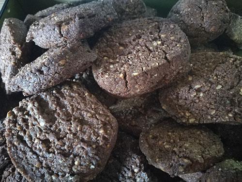 sablés fondants cacao noisettes notrebonnefranquette
