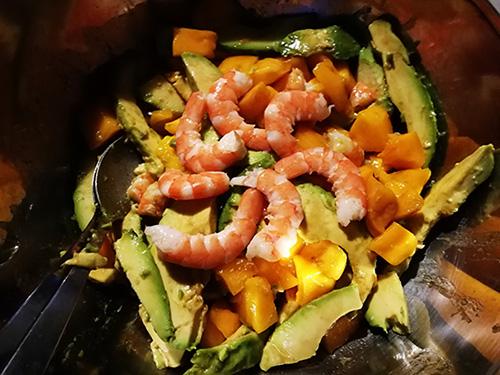 salade crevettes avocat mangue notrebonnefranquette