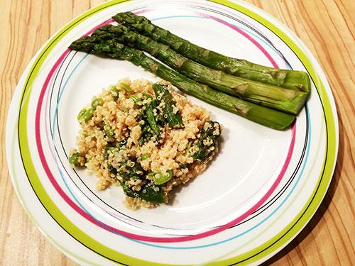 Salade de quinoa, fèves et asperges notrebonnefranquette